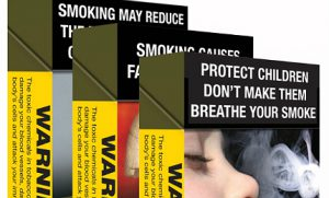 Plain cigarette design Packaging top