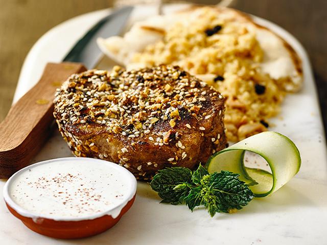 Cooking pork steak