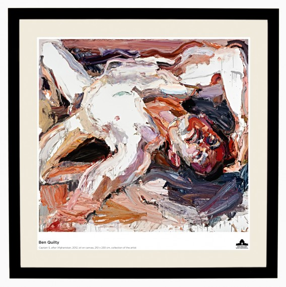 Ben Quilty poster: Captain S, After Afghanistan