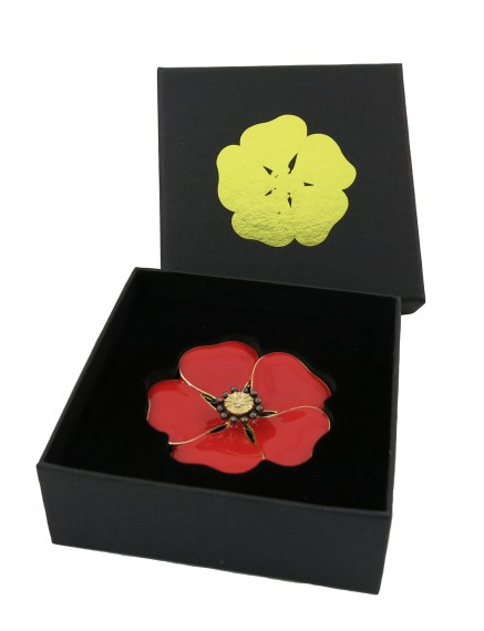 The Memorial poppy brooch [large]