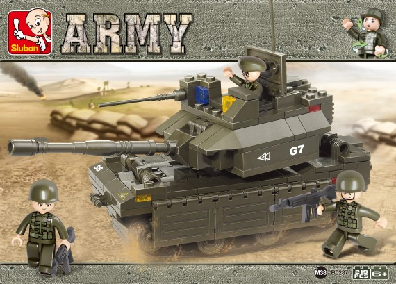 Sluban blocks: M1A2 Abrams tank