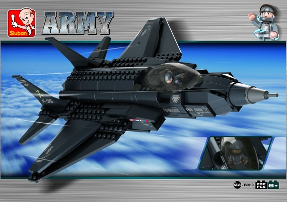 Sluban blocks: F35 Lightning fighter II