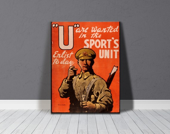 Canvas print: U are wanted in the Sport's Unit