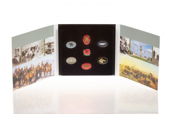 Badge set: The WW1 Centenary Series badges [set of seven]