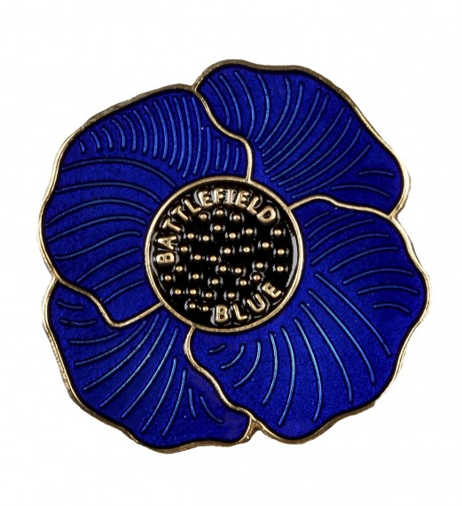 Battlefield Blue: large poppy lapel pin