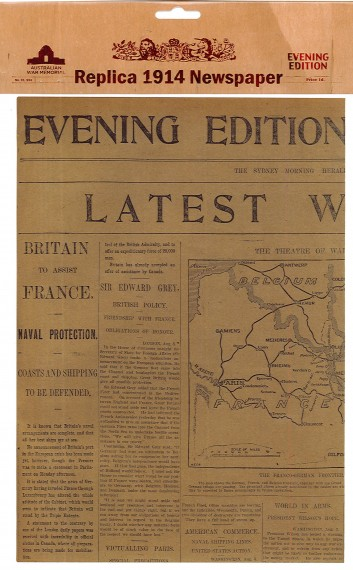 Replica 1914 Newspaper