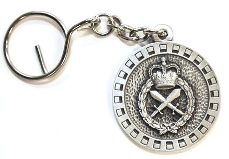 Military Police pewter keyring