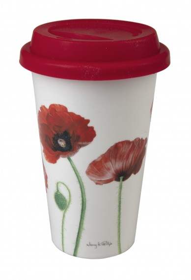 Travel mug: poppies collection