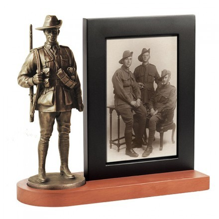 Photo frame: AIF soldier, First World War