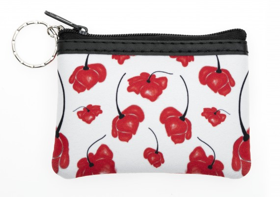 Coin purse: brushed poppy
