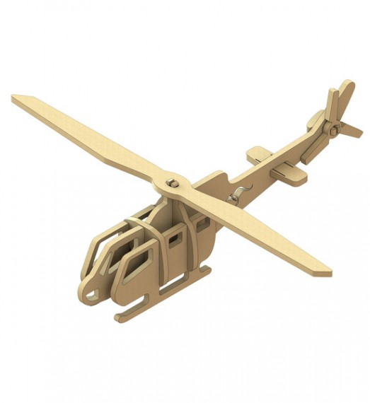 Huey Helicopter Wooden