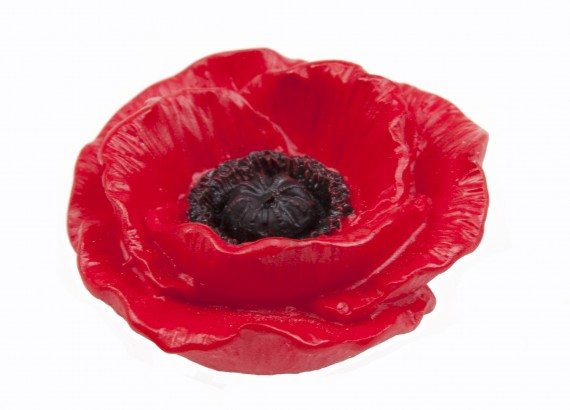 Magnet: 3D poppy, Flanders red
