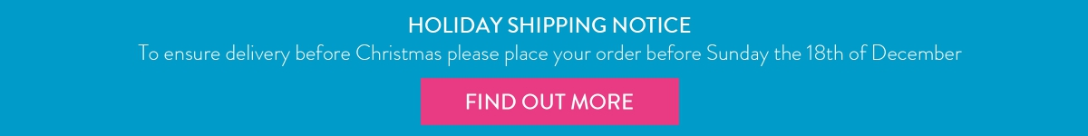 Christmas Shipping Notice
