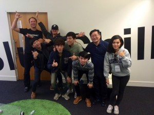Students and staff from Chang-Won University with BlueChilli's Alan Jones.