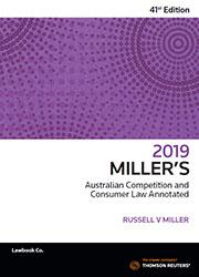 Millers Aust Com & Cons 41e 2019
