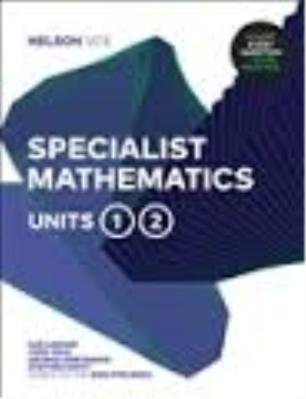 Nelson VCE Specialist Mathematics Units 1 & 2 1-code Access Card