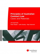 Principles of Australian Contract Law 4E + Principles of Australian Contract Law Cases and Materials 4E 9400145