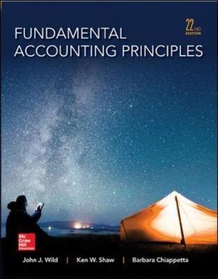 Fundamental Accounting Principles 22nd Edition