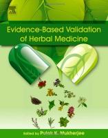 Evidence-Based Validation of Herbal Medicine: Farm to Pharma