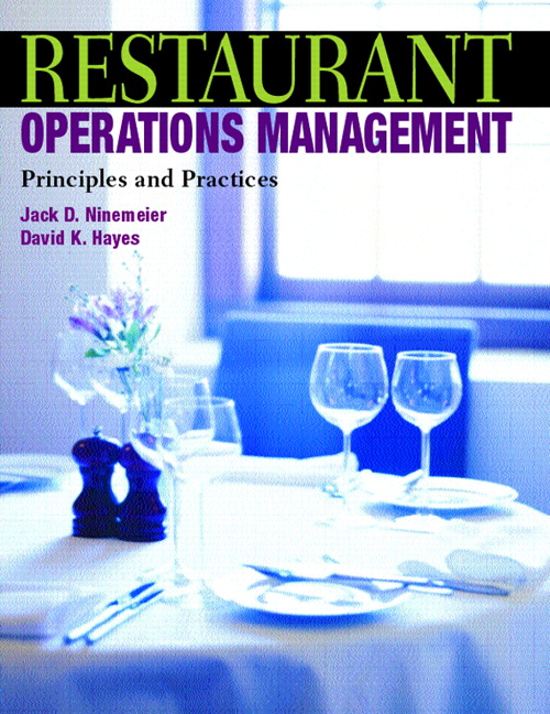 Restaurant Operations Management: Principles and Practices