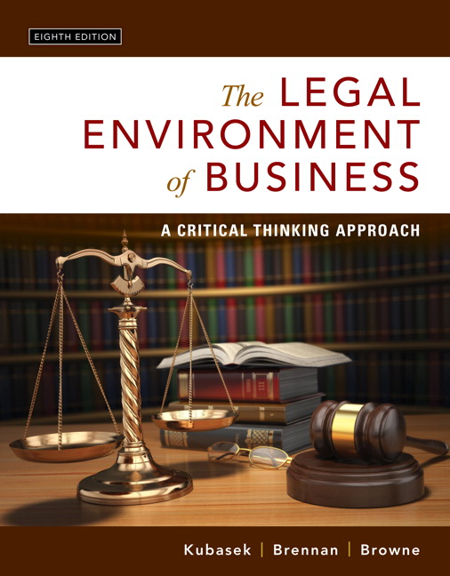 Legal Environment of Business, The: A Critical Thinking Approach