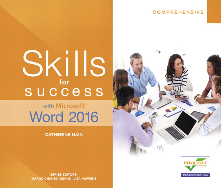 Skills for Success with Microsoft Word 2016 Comprehensive