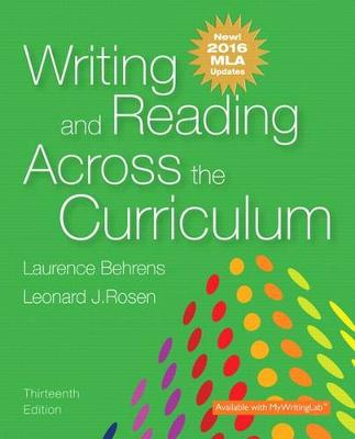 Writing and Reading Across the Curriculum, MLA Update Edition