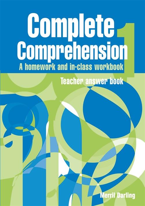 Complete Comprehension 1 Teacher Answer Book : Teacher Answer Book