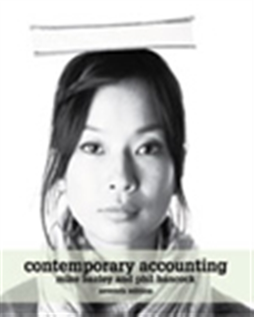 Contemporary Accounting Australia-New Zealand Edition with Online Study Tools 12 months