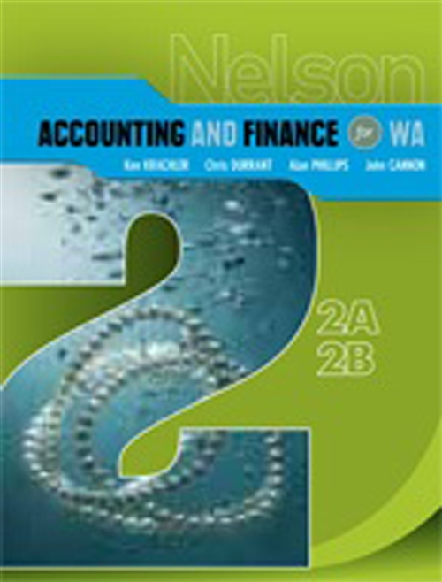Nelson Accounting and Finance for WA 2A-2B
