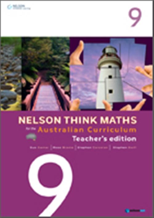 Nelson Think Maths for the Australian Curriculum Year 9 Teacher's Edition