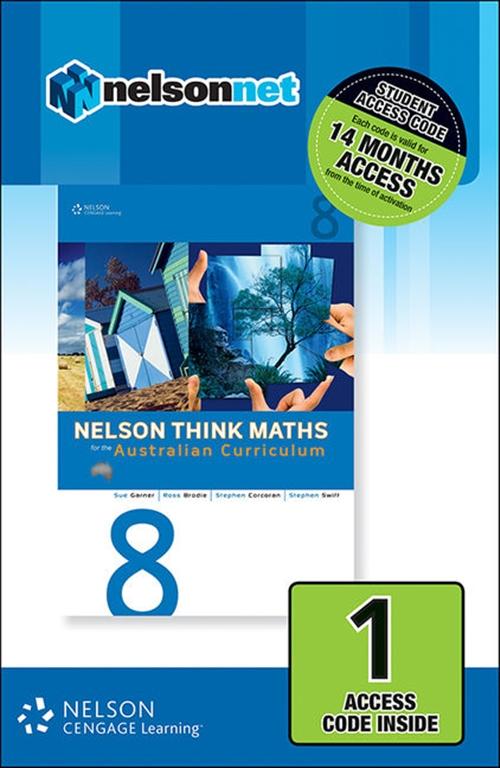 Nelson Think Maths 8 for the Australian Curriculum (1 Access Code Card)