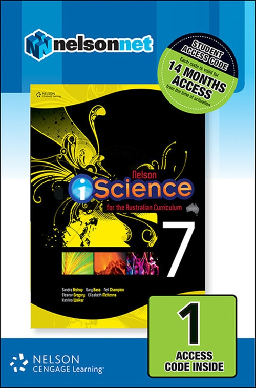 Nelson iScience for the Australian Curriculum Year 7 (1 Access Code Card)