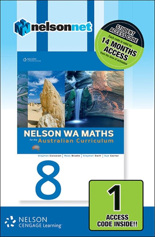 Nelson WA Maths 8 for the Australian Curriculum (1 Access Code Card)