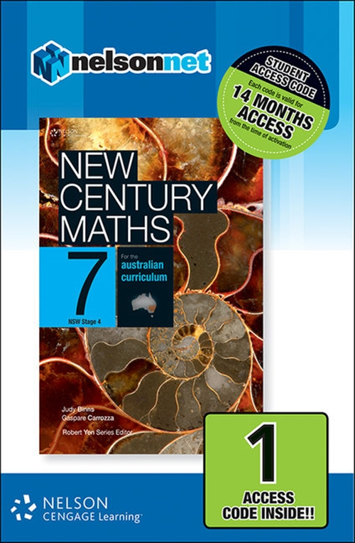 New Century Maths 7 for the Australian Curriculum NSW Stage 4 (1 Access Code Card)