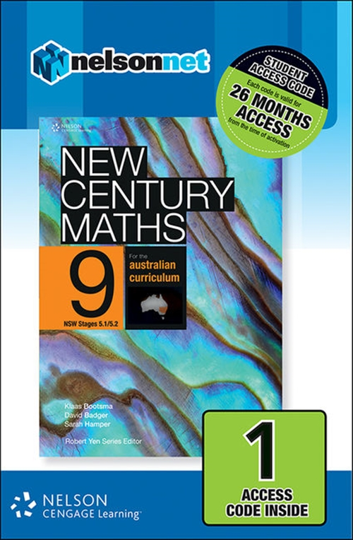 New Century Maths 9 for the Australian Curriculum NSW Stages 5.1/5.2 (1 Access Code Card)
