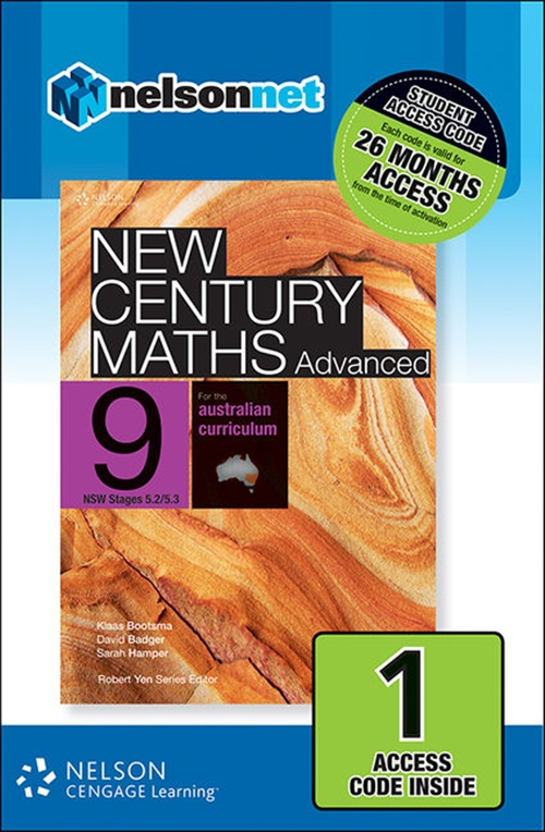 New Century Maths Advanced 9 for the Australian Curriculum NSW Stage 5.2/5.3 (1 Access Code Card)