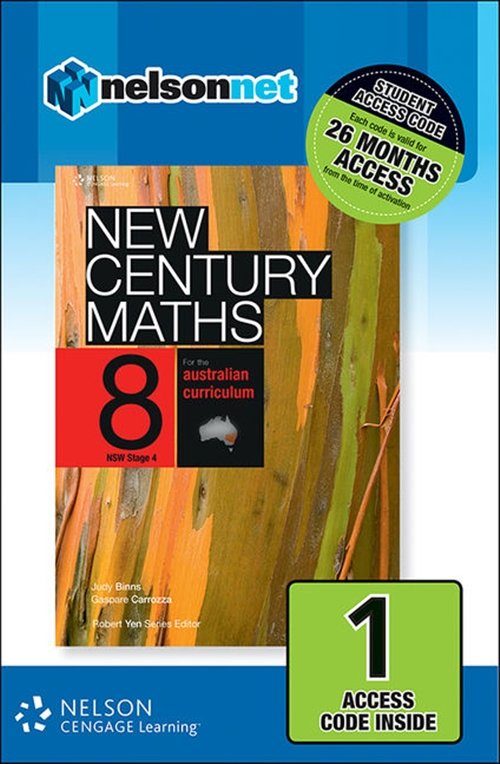New Century Maths 8 for the Australian Curriculum NSW Stage 4 (1 Access Code Card)