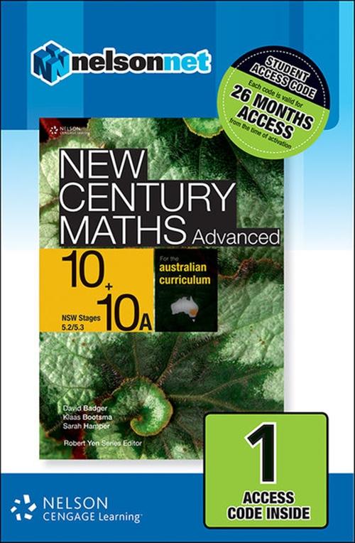 New Century Maths Advanced 10+10A for the Australian Curriculum NSW (1 Access Code Card)