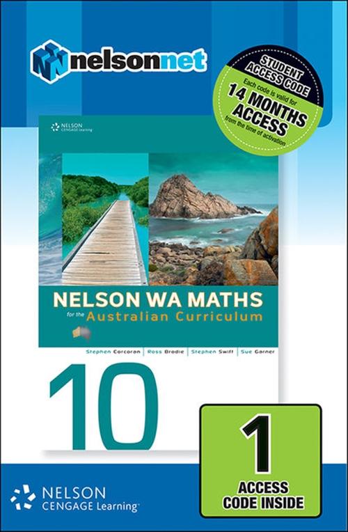 Nelson WA Maths 10 for the Australian Curriculum (1 Access Code Card)