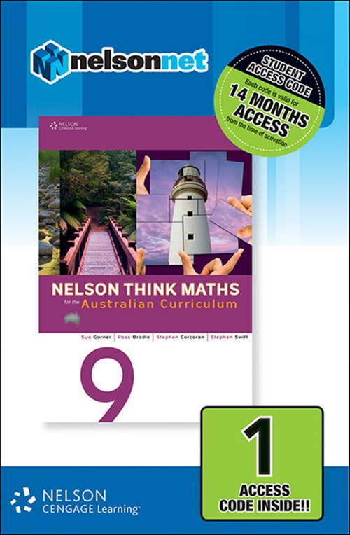 Nelson Think Maths 9 for the Australian Curriculum (1 Access Code Card)