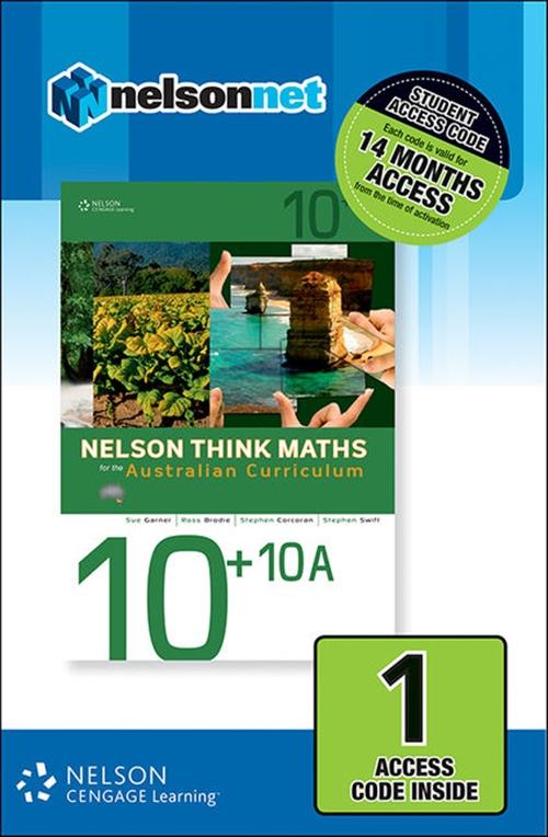Nelson Think Maths Advanced 10 +10A for the Australian Curriculum (1 Access Code Card)