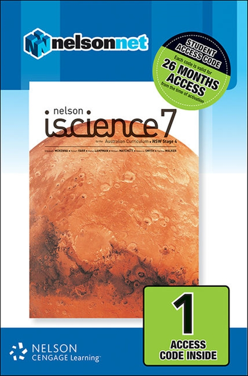 Nelson iScience 7 for the Australian Curriculum NSW Stage 4 (1 Access Code Card)