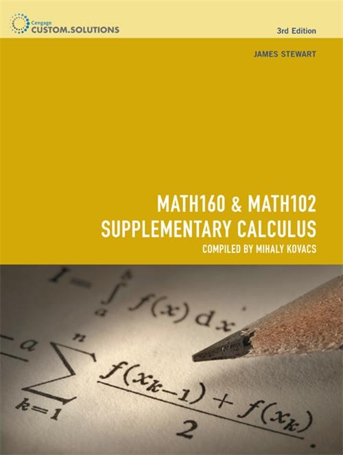 MATH160 Mathematics & MATH102 Supplementary Calculus 1