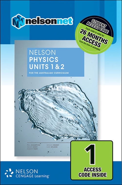 Nelson Physics Units 1 & 2 for the Australian Curriculum (1 Access Code Card)