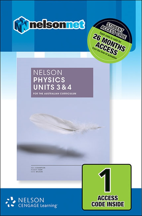 Nelson Physics Units 3 & 4 for the Australian Curriculum (1 Access Code Card)