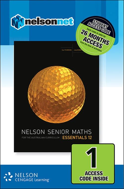 Nelson Senior Maths Essentials 12 for the Australian Curriculum (1 Access Code Card)
