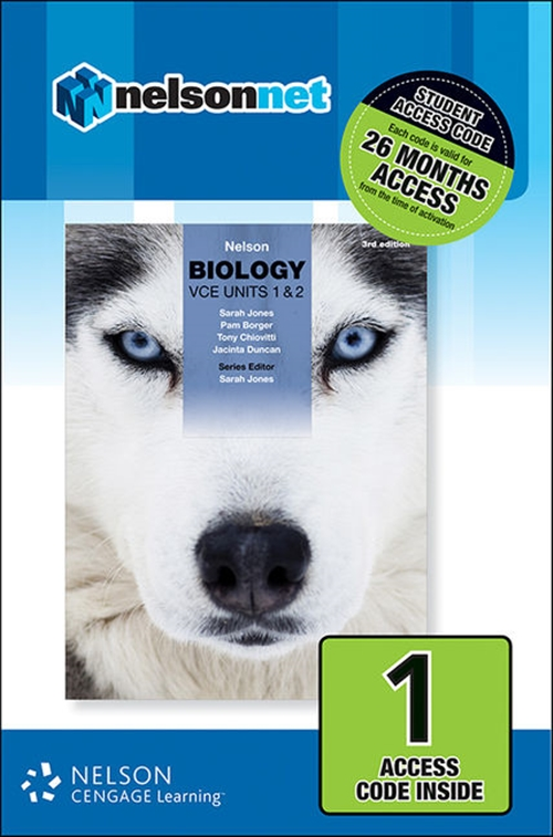 Nelson Biology VCE Units 1 & 2 (1 Access Code Card)
