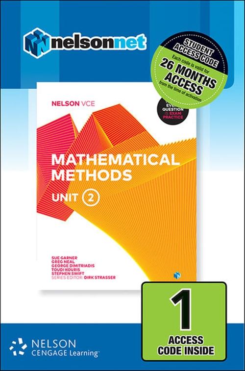 Nelson VCE Mathematical Methods Unit 2 (1 Access Code Card)