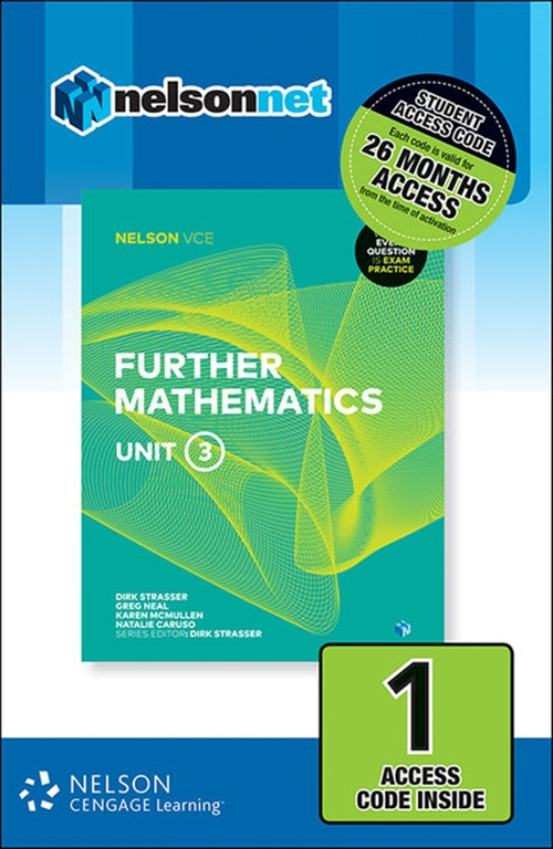 Nelson VCE Further Mathematics Unit 3 (1 Access Code Card)